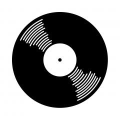 Vinyl record (icon symbol)