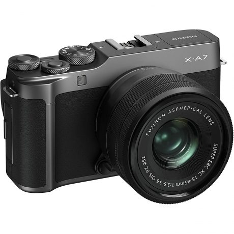 Fujifilm X-A7 Mirrorless Camera (Dark Silver) with Black XC15-45mm Lens